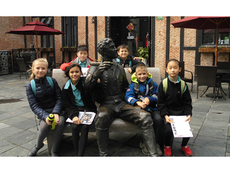 Year 5 students at the British International School Shanghai, Puxi travel to Thames Town to learn about settlements.