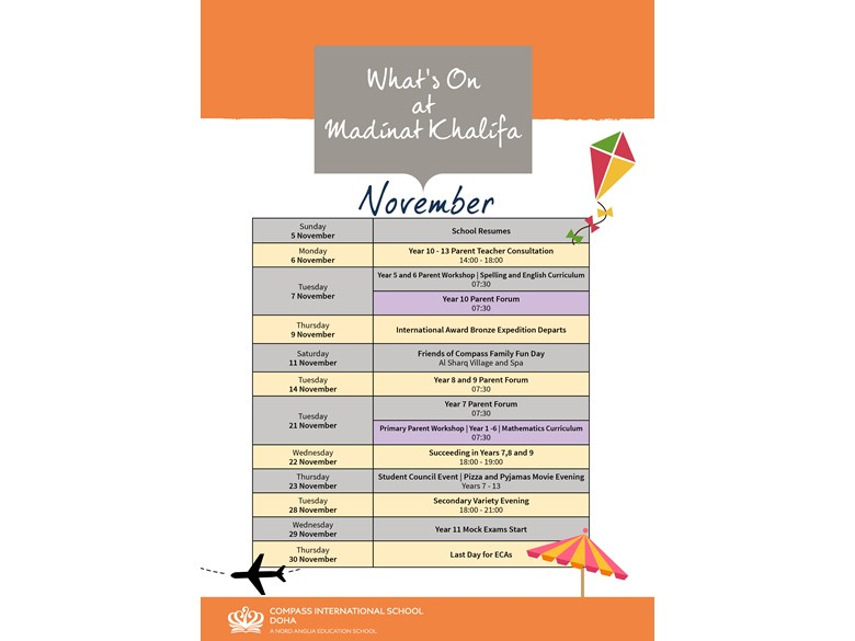 What's on MK November