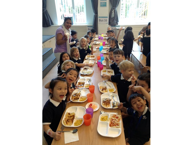 Reception lunch transition