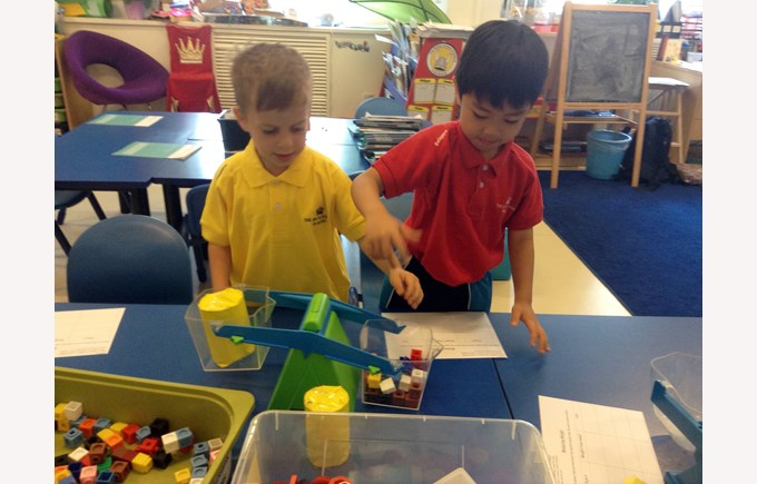 Y1 maths in classroom