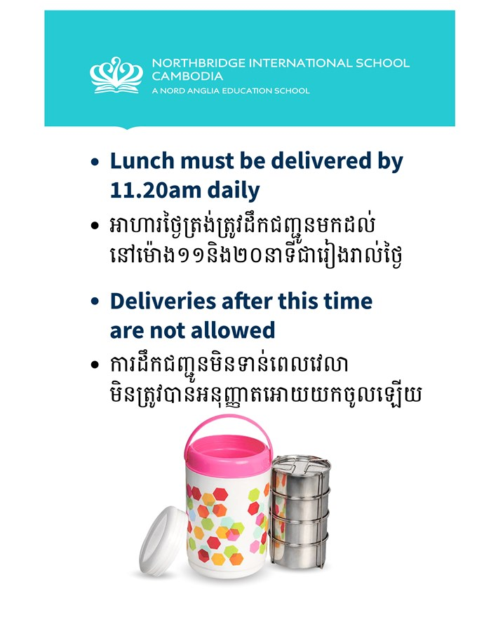 Northbridge International School Cambodia - Lunch Deliveries