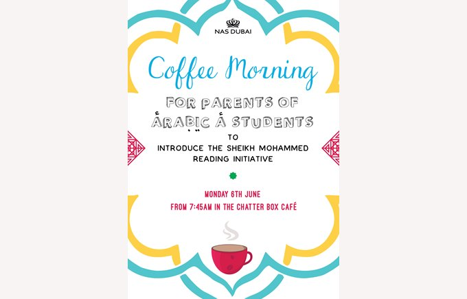 Coffee Morning for parents of Arabic A students