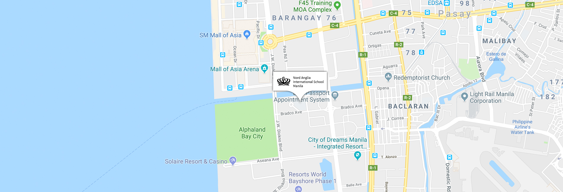 Nord Anglia International School Manila location map