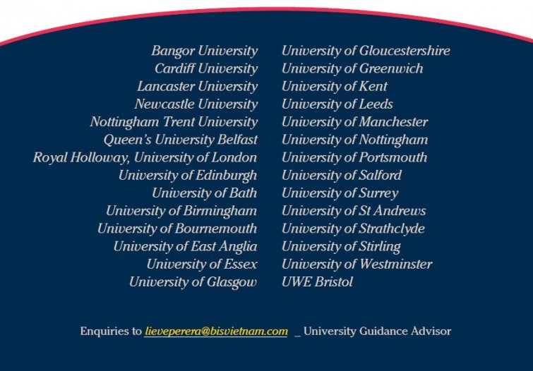 UK Uni Fair List