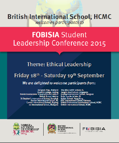 FOBISIA Student Leadership Conference 2015
