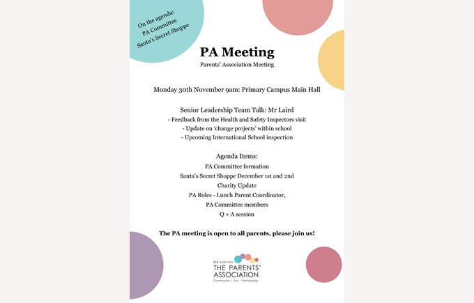 PA Meeting Information