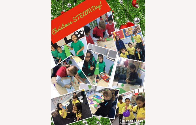 Christmas STEAM day in Year 4