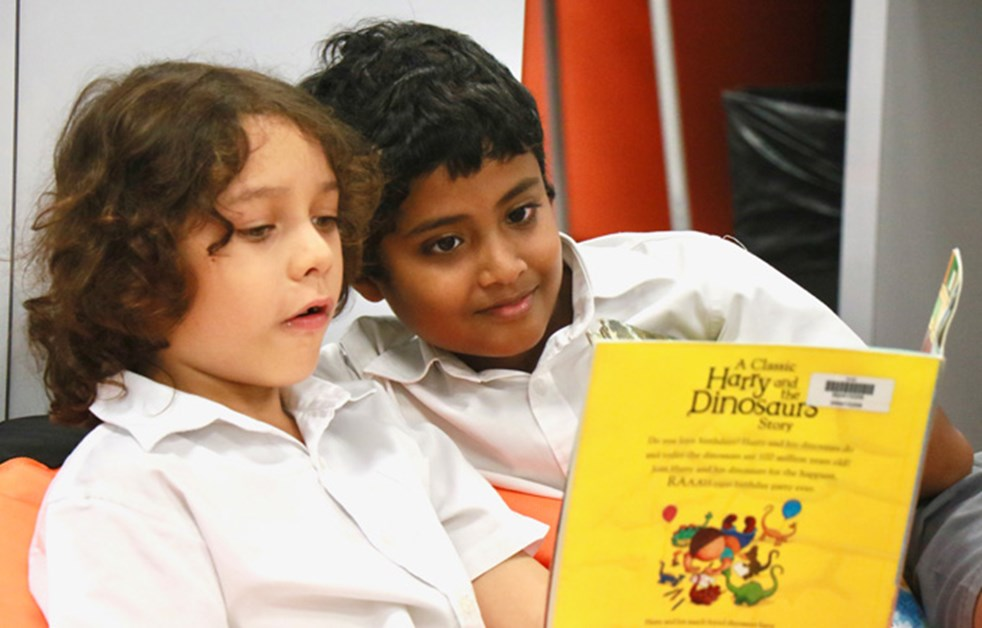 Primary Book Buddies in the Library
