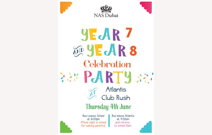 Years 7 & 8 Celebration Party