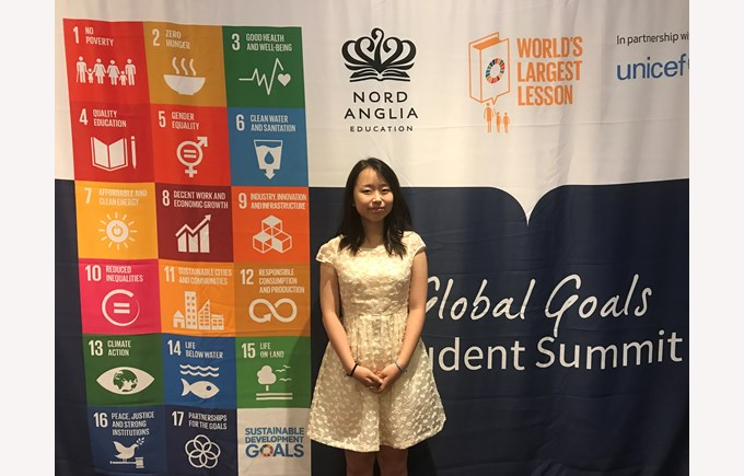 Helen - NAE Student Journalist for the Global Goals Summit 2017