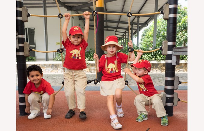 British International School Hanoi EYFS outside playground
