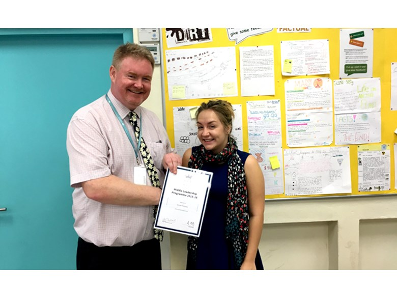 Ms Mahoney finishes Middle Leadership Programme