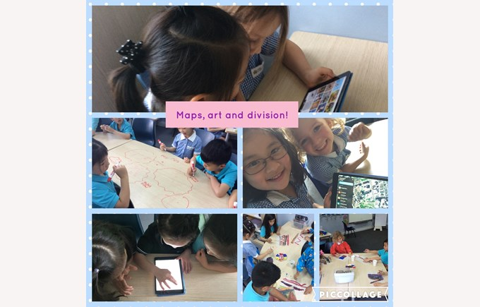 Maps, art and division in Year 1