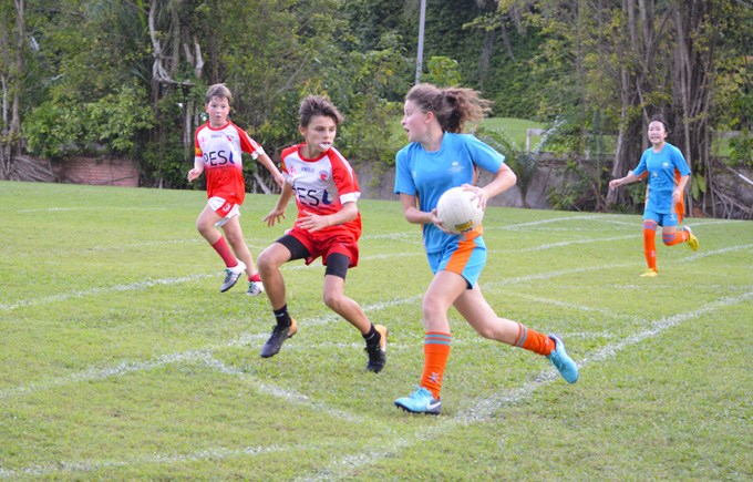 DCIS Girls Team at Singapore Gaelic Football Tournament