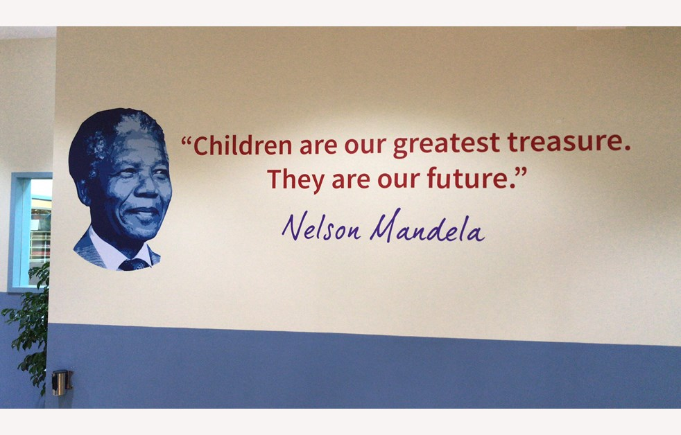 Nelson Mandela quote on South Park wall
