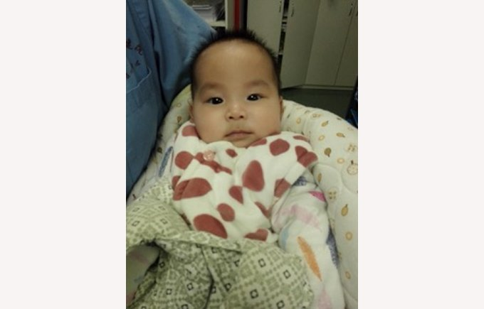 Baby Cai after her successful heart surgery