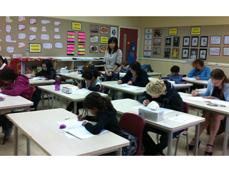 Students, staff and parents at the British International School Shanghai, Puxi sit the HSK Exams this month