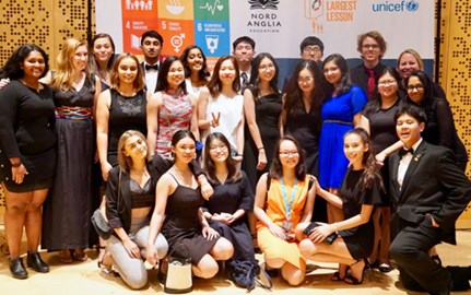DCIS Students at NAE UNICEF Summit Link