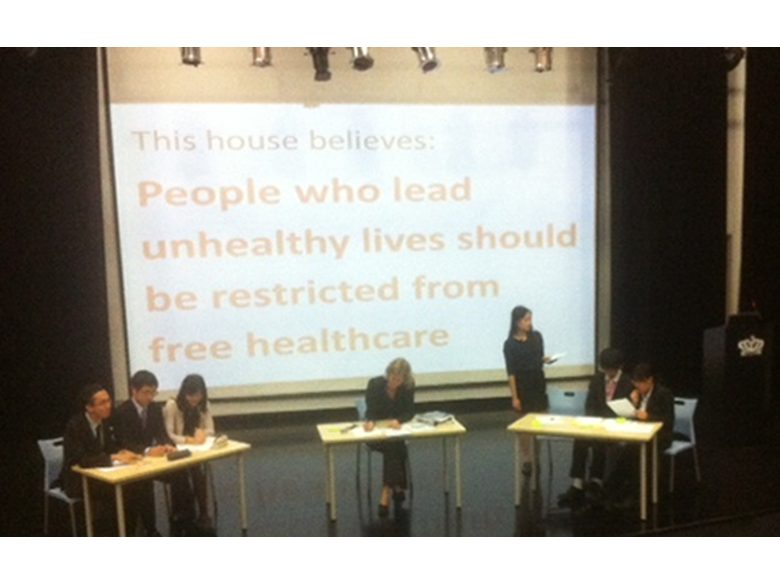 BISS Puxi IB Students put forward their arguements in the Year 12 Great Debate