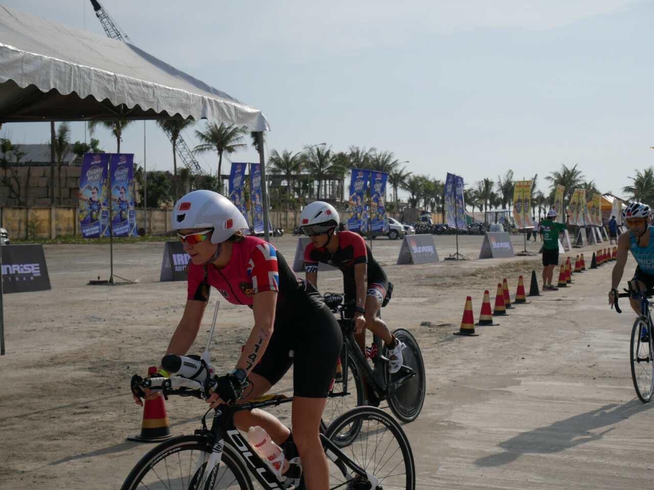 BISHCMC Athelete Mary McAloon in the Danang IRONMAN-min