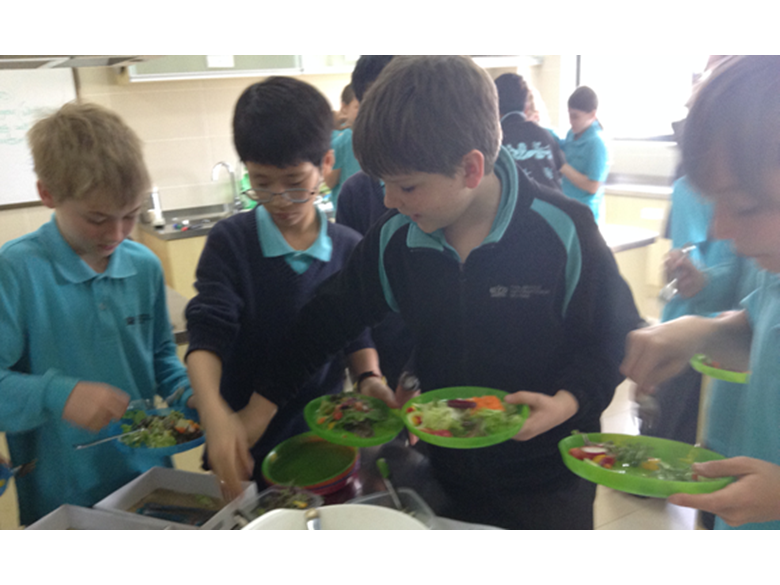Year 6 students at the British International School Shanghai, Puxi learn about healthy living