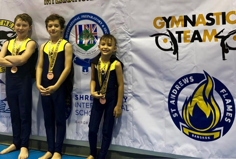 black and gold gymnastics competition