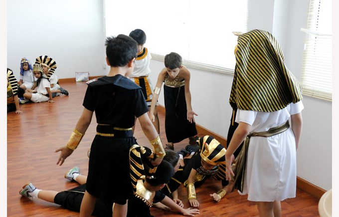 Year 4 students on Ancient Egypt day.