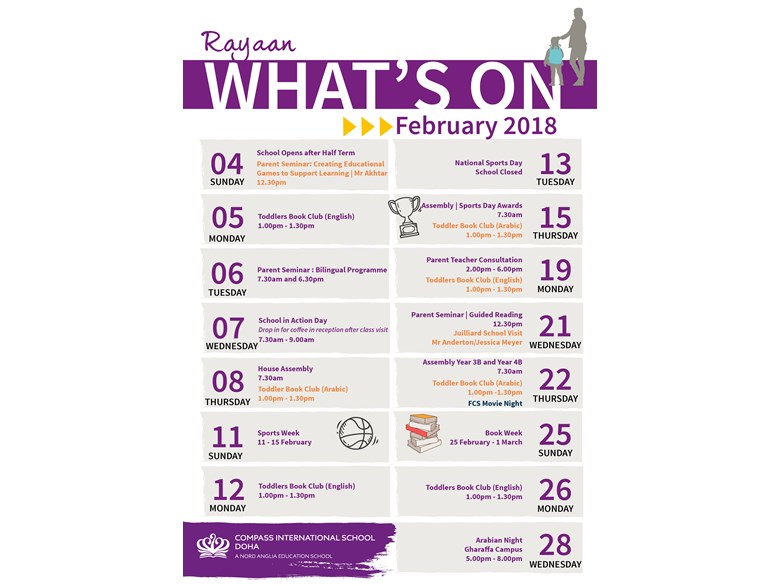 Rayyan What's on February 2018