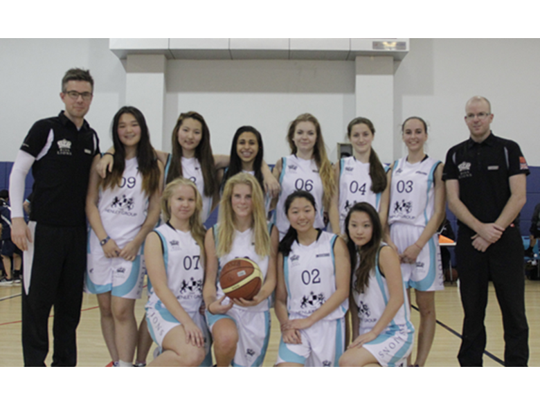 Under 19 basketball teams at the British International School Shanghai, Puxi are crowned ACAMIS Champions 2015