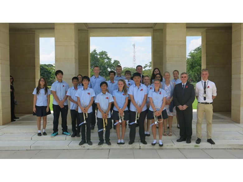 Regents International School Pattaya at Kanchanaburi War Cemetery (Don Rak)