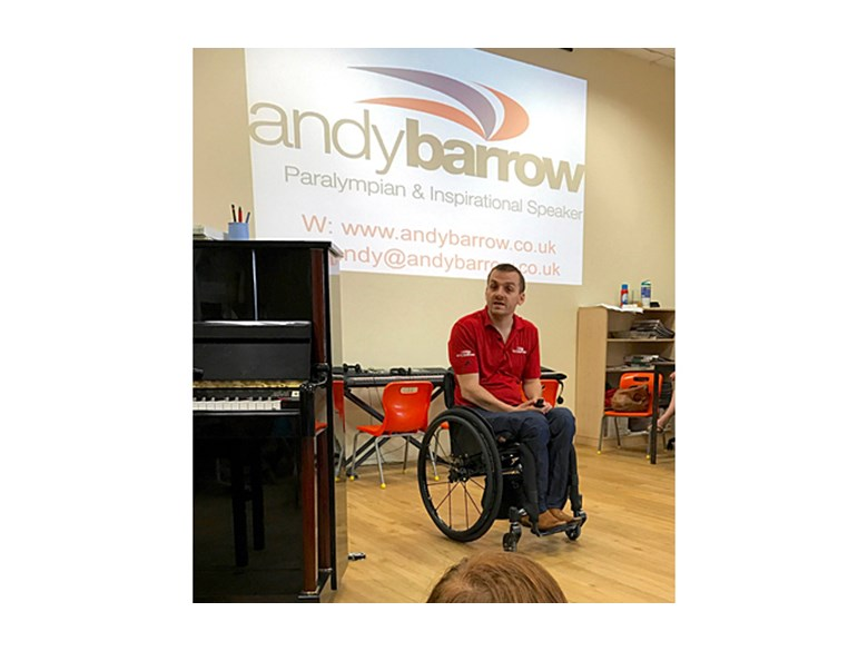Paralympic Champion Andy Barrow Visits DCIS