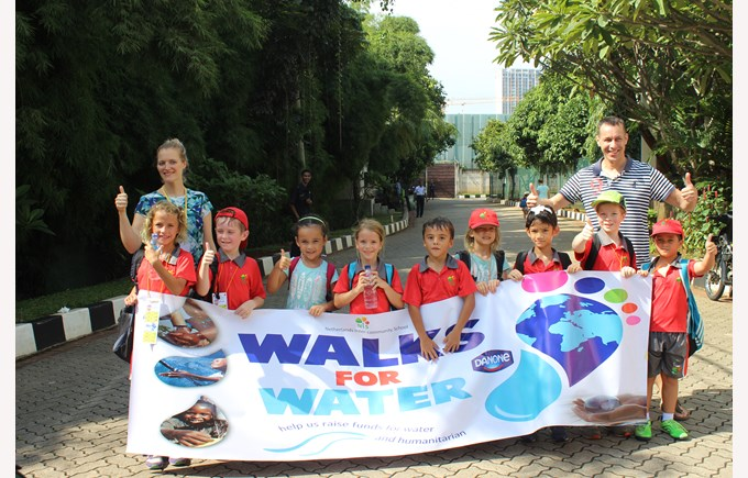 Walk for Water project | NIS international school Jakarta