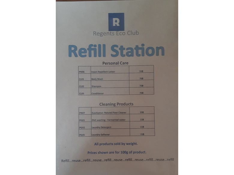 Re-fill station