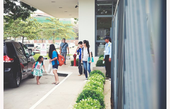 Arrival at school