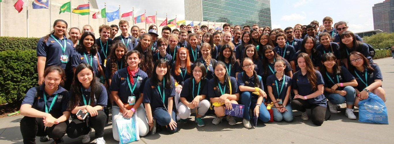 NAE Students including repreentatives from British International School, HCMC, in NYC for the UNICEF Student Summit