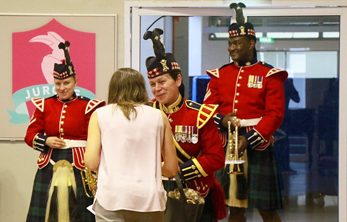 Visit by The Band of The Royal Regiment of Scotland