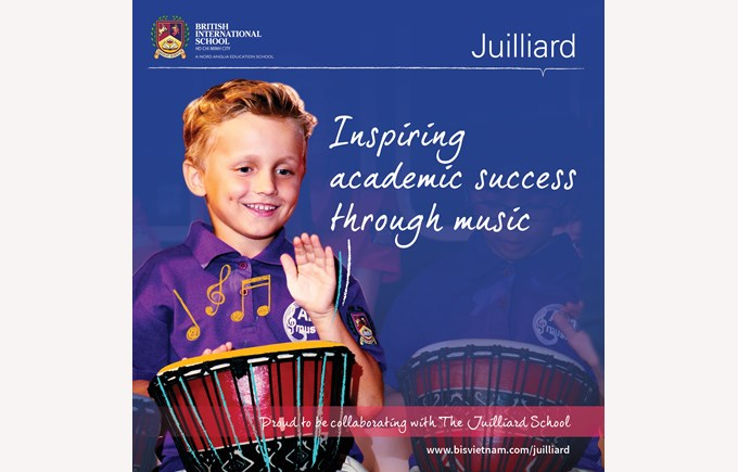 British International School, HCMC collaborating with world renowned performing arts conservatory. The Juilliard School.