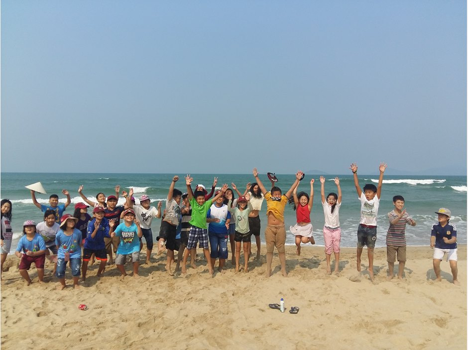 Group photo of Year 5 in Hoi An