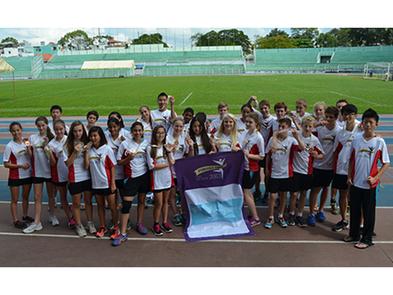 Students from the British International School Shanghai, Puxi at the FOBISIA U15 Games last year in Vietnam