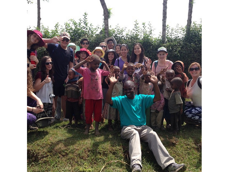 Students from the British International School Shanghai, Puxi campus travel to Tanzania