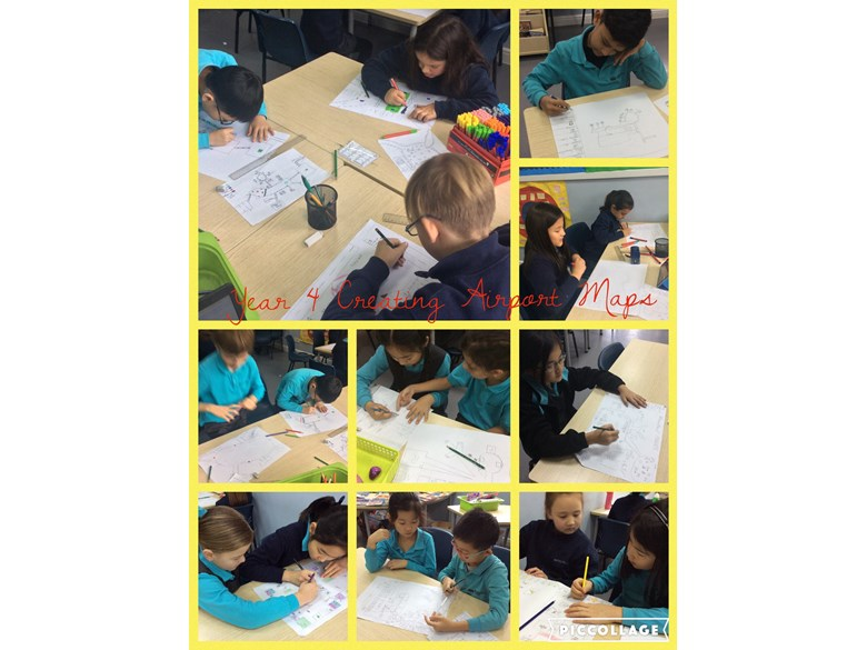 Year 4 creating airport maps