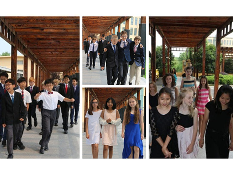 Year 6 make their way over to secondary for their graduation