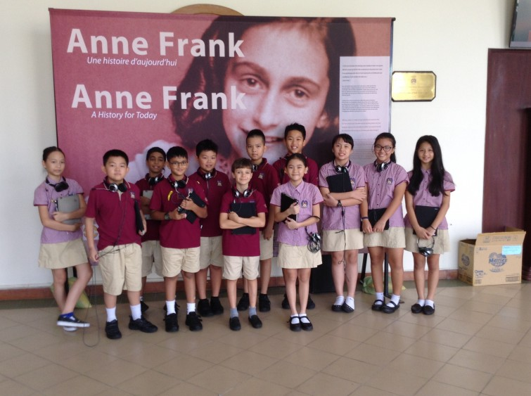 TX at Anne Frank Exhibition