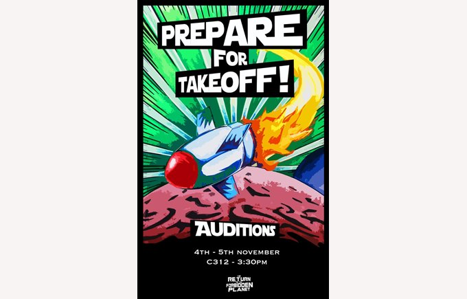 Return to the forbidden planet audition