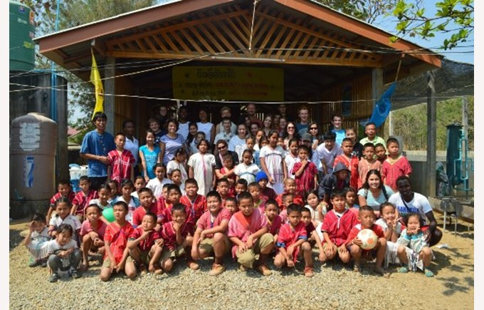 Regents students at Baan Mae Lid School