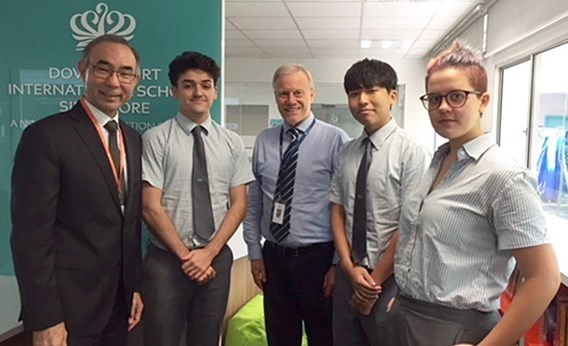 President of Quest University, Canada, visited our IBDP students