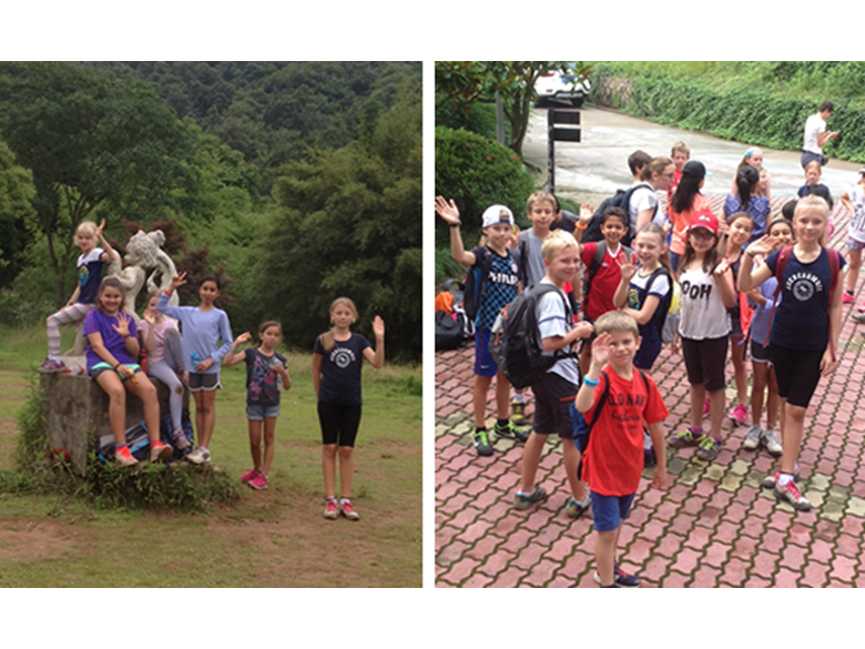 Year 5 students from the British International School Shanghai, Puxi on their residential trip to Nanbei Hu.