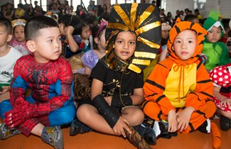 TX Students dressed up on Brilliant Books day