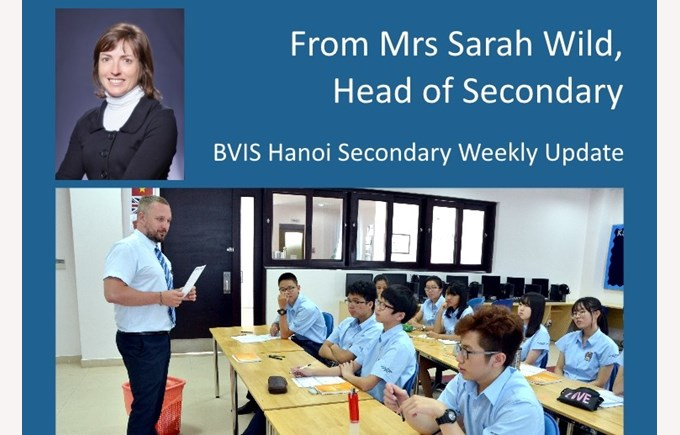 BVIS Secondary Weekly update 20150828