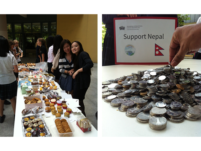 Students at the British International School Shanghai, Puxi raise funds to help the people of Nepal